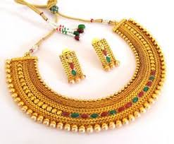 south indian jewellery gold plated bridal necklace set punjabi