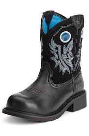 s fatbaby boots size 12 ariat womens fatbaby steel toe black deertan