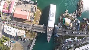 steve jobs yacht venus going through simpson bay bridge youtube