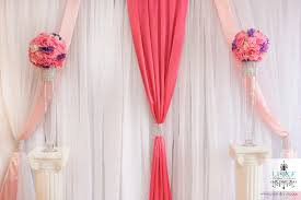 Wedding Backdrop Trends Pink And White Backdrop For Quinceañera By Luxe Weddings And