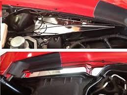 corvette stainless creations corvette c7 2014 2018 inner fender cover kit 2 pc stainless engine