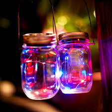 pretty 1 pack led fairy light solar mason jar lid lights color