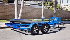 shad 2 pwc trailer u2013 candy blue custom boat trailers pwc