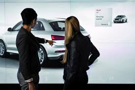 audi digital showroom audi first interactive digital showroom video futuristic news