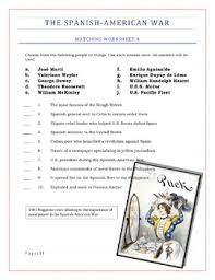imperialism worksheets set 2 the spanish american war