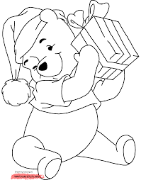 Winnie The Pooh Halloween Coloring Pages Disney Christmas Coloring Pages 3 Christmas Fun At Disney U0027s