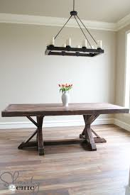 Farmhouse Dining Room Sets Restoration Hardware Inspired Dining Table For 110 Shanty 2 Chic