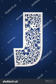 royalty free laser cut monogram initial letter j u2026 456174637 stock