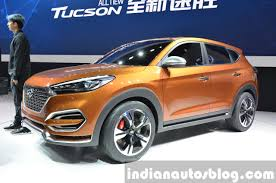 hyundai tucson 2015 interior hyundai tucson front three quarter at auto shanghai 2015 indian