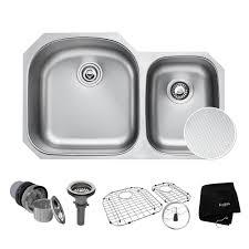 KRAUS Outlast Microshield Undermount Stainless Steel  In - Kitchen sink plumbing kit