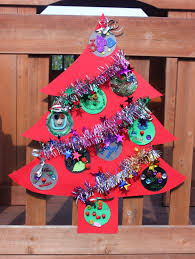 christmas kids craft flat christmas tree decoration christmas