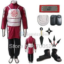 Red Coat Halloween Costume Naruto Akimichi Choji Cosplay Costume V2 Red Coat Mens Ninja Cloth