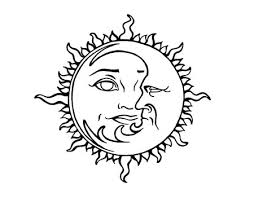 without color sun and moon tattoo sample photos pictures and