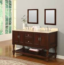 legion 60 inch double sink rustic bathroom vanity black marble top
