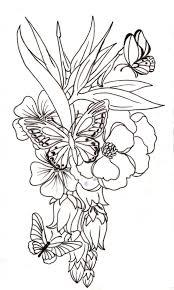 big flower designs 55 butterfly flower tattoos