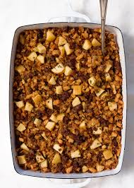 apple sausage and cornbread dressing fork knife swoon