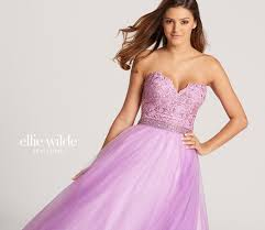 strapless lace u0026 sparkle tulle a line prom dress ew118115