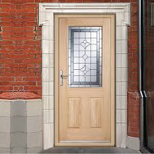 Hardwood Door Frames Exterior Winchester External Oak Part L Door With Semi Obscure Zinc