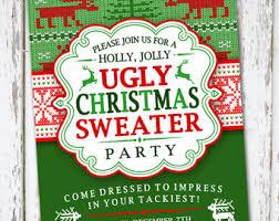 sweater invitation etsy