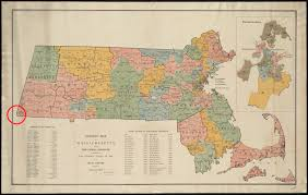 Massachusetts City Map by Boston Corner Ny In 1855 Massachusetts Ceded Its Southwest