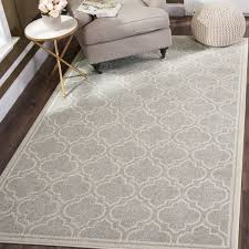 Safavieh Indoor Outdoor Rugs Safavieh Indoor Outdoor Amherst Light Grey Ivory Rug 6 X 9