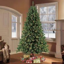 living 9 ft fir pre lit artificial tree with 1