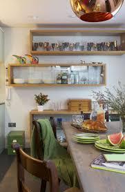 kitchen style white floating shelf contemporary design kitchen