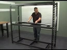 Heavy Duty Shelves by Gladiator Installation Heavy Duty Steel Rack Shelving Youtube