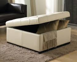 Leather Storage Ottoman Coffee Table Fancy Square Ottoman With Storage Image Of Ottoman Coffee Tables