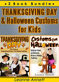 thanksgiving day customs for 2 book bundle book