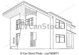 casa disegno casa disegno architettonico prospettiva clipart cerca