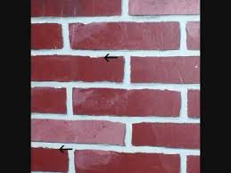 How To Paint A Faux Brick Wall - painted faux brick tutorial youtube