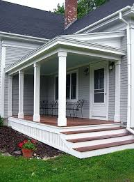 front to back split house adding a front porch to a raised ranch add front porch to split
