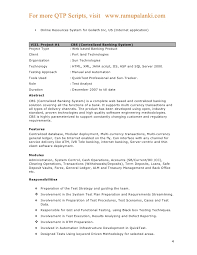 Software Testing Fresher Resume Sample by Qtp Sample Resume
