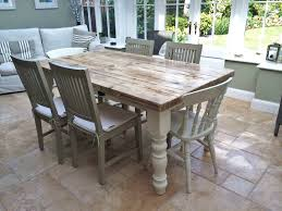 Fascinating White Shabby Chic Dining Table And Chairs  With - Shabby chic dining room set