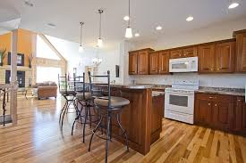 what color floor with cherry cabinets hickory floor with cherry cabinets pics1 house pinterest