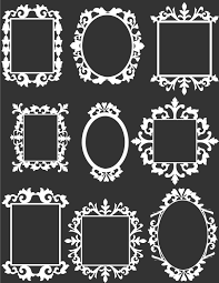 9 White Decorative Frame Clip Art Set Digital by aprilhovjacky