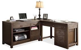 Solid Wood L Shaped Desk Contemporary Black L Shaped Writing Desk With File Cabinets