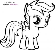 My Little Pony Clipart Colouring Page Pencil And In Color My Pony Color Pages