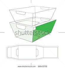 food sleeve box blueprint layout stock vector 166433750 shutterstock