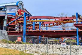 Six Flags Over Georgia Superman Ultimate Flight Parallel Coaster Tracks