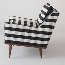 Black And White Armchairs Jack Chair Windowpane Plaid Armchairs Plaid And Living Rooms