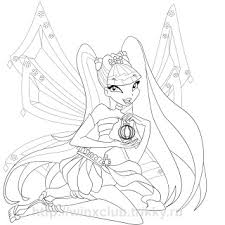 Club Bloom Enchantix Coloring Pages Winx Club Musa Coloring Pages