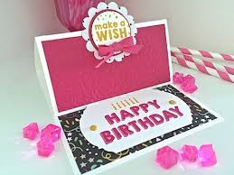 simply simple flash card 2 0 happy birthday easel card by connie