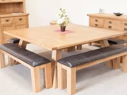 square dining table with bench kitchen blower kitchen blower large table with bench country oak 8m