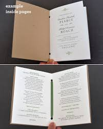 deco wedding program tasting booklet deco wedding invitation