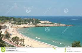 Tarragona Spain Map by A Beach In Tarragona Spain Stock Photo Image 39662906