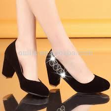Comfortable Stylish Heels Patent Pu Comfortable Dress Shoes Brand Thick Low Heel Mother