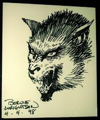 bernie wrightson werewolf sketch in michael andujar u0027s monsters