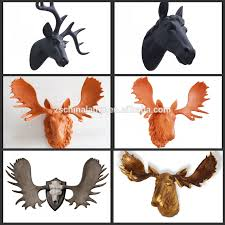 christmas resin deer head 3d wall decor with customized color